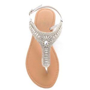 SALE✨ sparkling crystal sandals silver